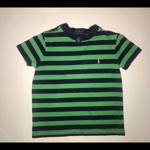 Polo Ralph Lauren stripe navy blue green